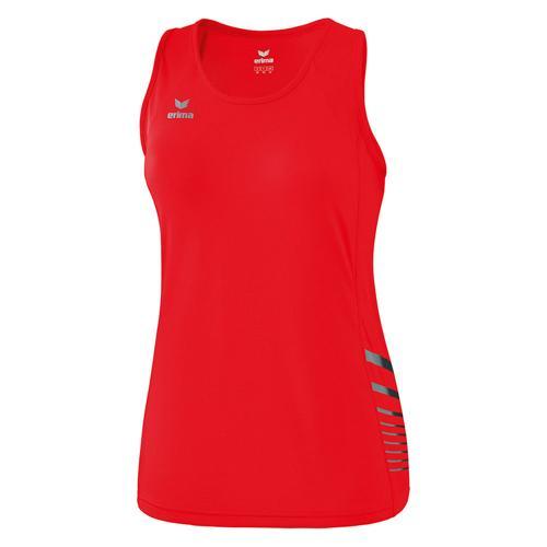Débardeur running - Erima singlet race line 2.0 femme rouge