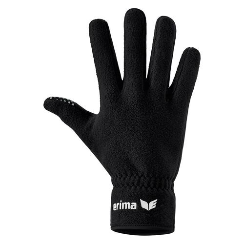 Gants pour joueurs de terrain - Erima - en polaire noir