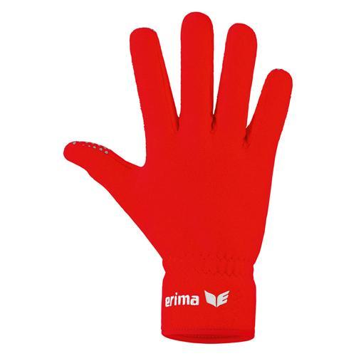 Gants pour joueurs de terrain - Erima - en polaire rouge