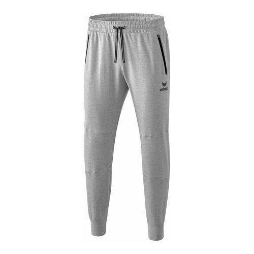 Pantalon sweat - Erima essential gris clair chiné/noir