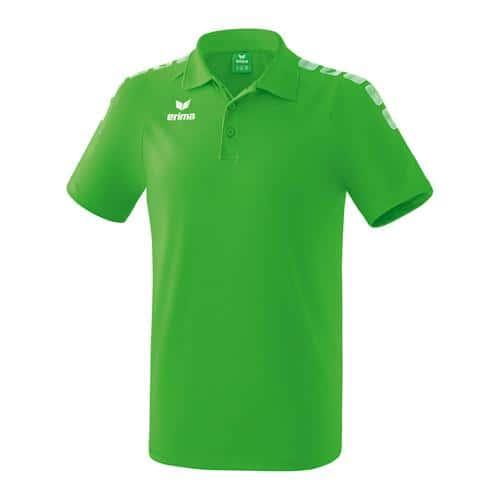 Polo - Erima - 5-c essential enfant green/blanc