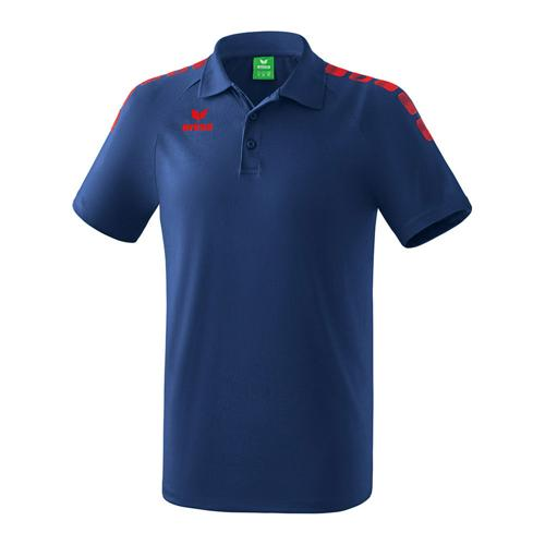 Polo - Erima - 5-c essential new navy/rouge