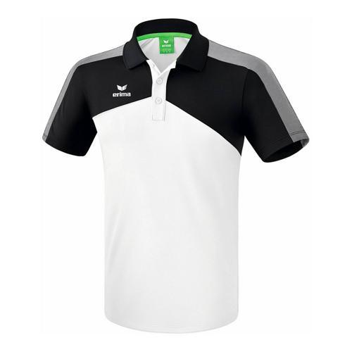 Polo - Erima - premium one 2.0 enfant blanc/noir/blanc