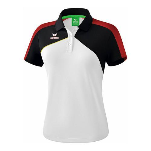 Polo - Erima - premium one 2.0 femme blanc/noir/rouge/jaune