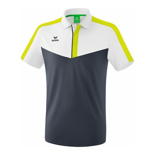 Polo - Erima - squad blanc/slate grey/bio lime
