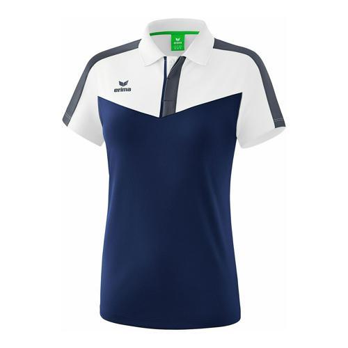 Polo - Erima - squad femme blanc/new navy/slate grey