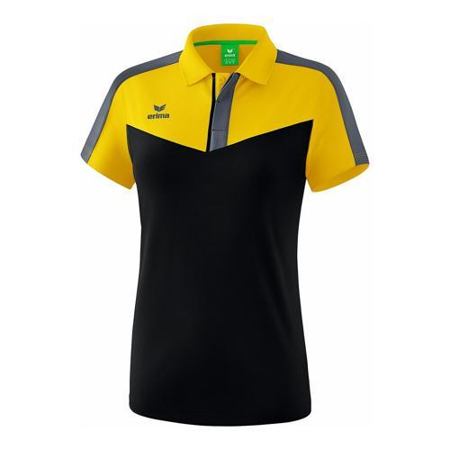 Polo - Erima - squad femme jaune/noir/slate grey