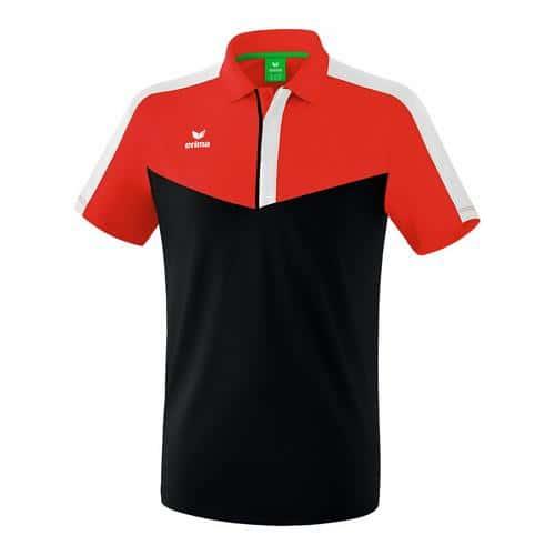 Polo - Erima - squad rouge/noir/blanc