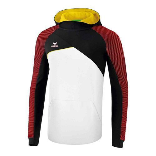 Sweat à capuche - Erima premium one 2.0 blanc/noir/rouge/jaune
