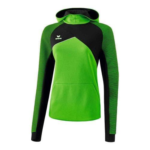 Sweat à capuche - Erima premium one 2.0 femme green/noir/blanc