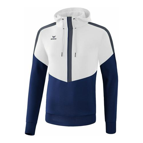 Sweat à capuche - Erima squad blanc/new navy/slate grey