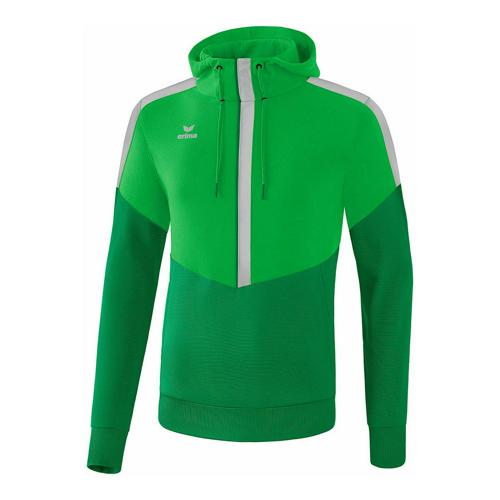 Sweat à capuche - Erima squad enfant fern green/smaragd/silver grey