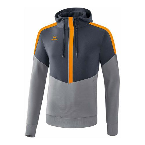 Sweat à capuche - Erima squad enfant slate grey/monument grey/new orange