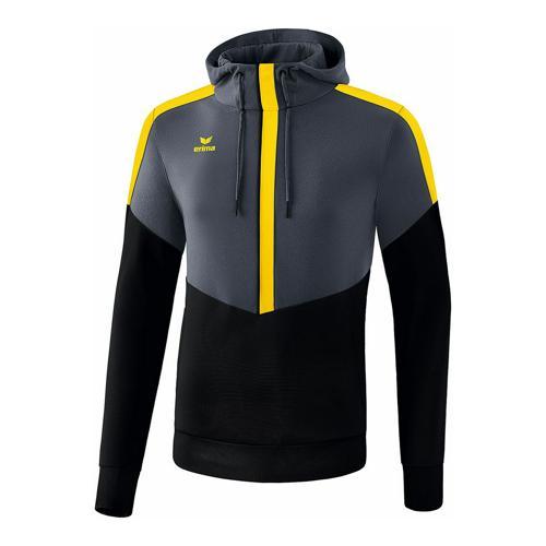 Sweat à capuche - Erima squad enfant slate grey/noir/jaune