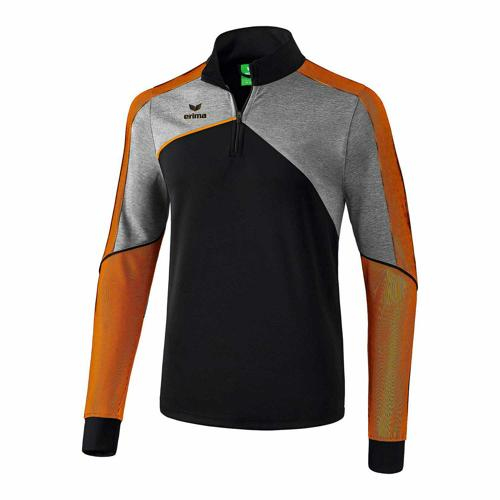 Sweat d'entraînement - Erima premium one 2.0 noir/gris chiné/orange fluo