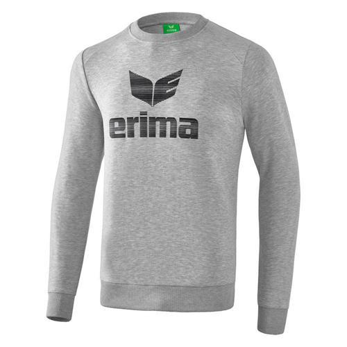 Sweat-shirt - Erima essential enfant gris clair chiné/noir
