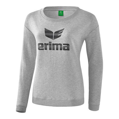 Sweat-shirt - Erima essential femme gris clair chiné/noir