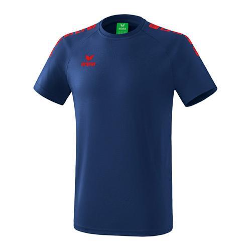 T-Shirt - Erima - 5-c essential new navy/rouge