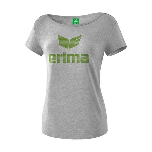 T-Shirt - Erima - essential femme gris clair chiné/twist of lime