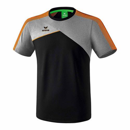 T-shirt - Erima - premium one 2.0 enfant noir/gris chiné/orange fluo