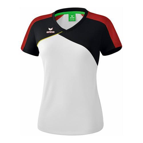 T-shirt - Erima - premium one 2.0 femme blanc/noir/rouge/jaune