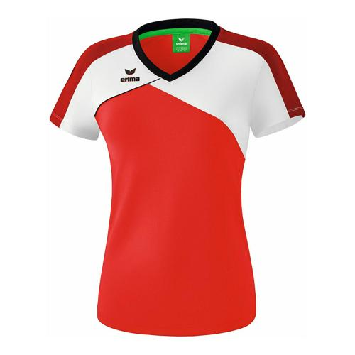 T-shirt - Erima - premium one 2.0 femme rouge/blanc/noir