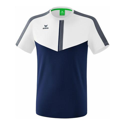 T-shirt - Erima - squad blanc/new navy/slate grey