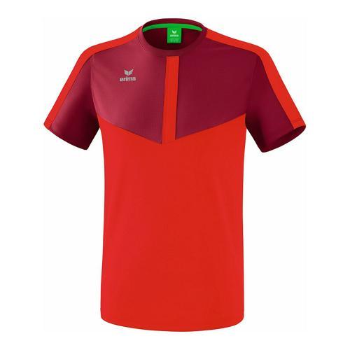 T-shirt - Erima - squad enfant bordeaux/rouge
