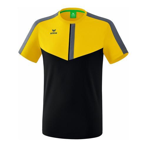 T-shirt - Erima - squad enfant jaune/noir/slate grey