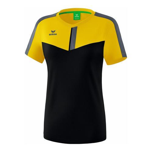 T-shirt - Erima - squad femme jaune/noir/slate grey