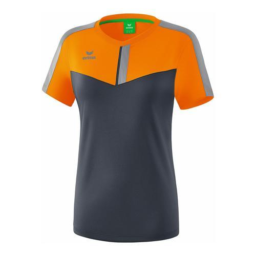 T-shirt - Erima - squad femme new orange/slate grey/monument grey