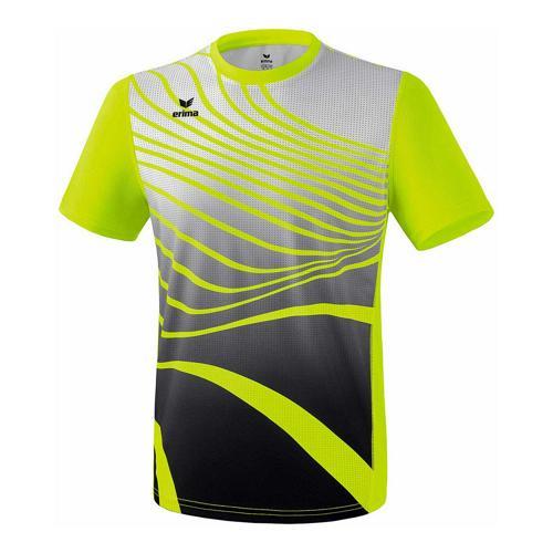 T-shirt athlétisme - Erima athletic enfant jaune fluo/noir