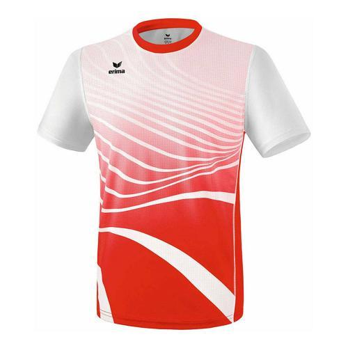 T-shirt athlétisme - Erima athletic enfant rouge/blanc