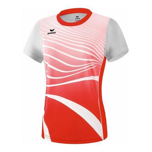 T-shirt athlétisme - Erima athletic femme rouge/blanc