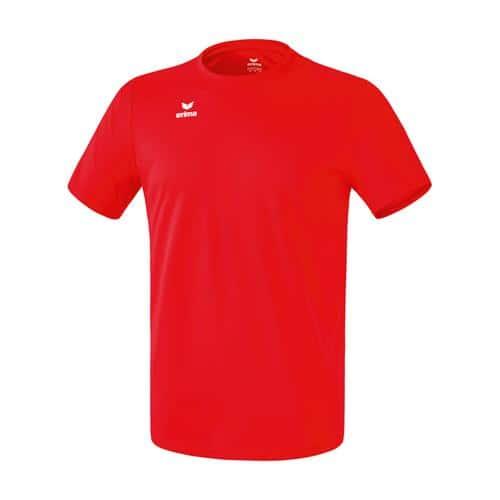 T-shirt fonctionnel teamsport - Erima - casual basic enfant rouge