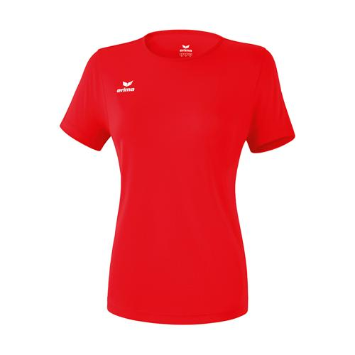 T-shirt fonctionnel teamsport - Erima - casual basic femme rouge