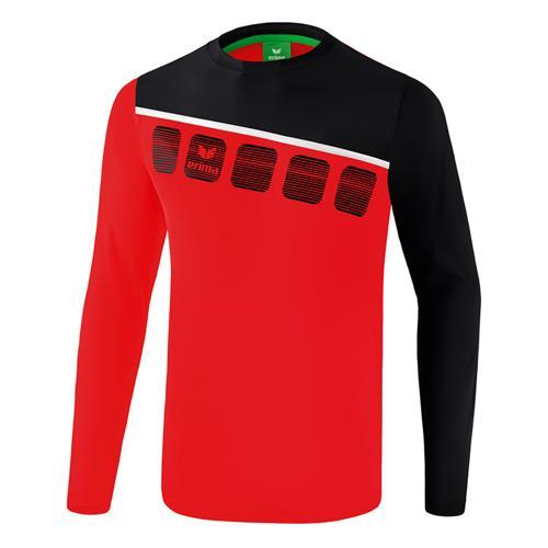 T-shirt manches longues Erima - 5-c enfant rouge/noir/blanc