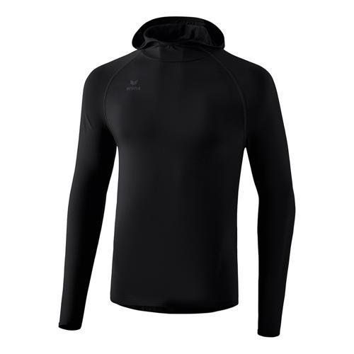 T-shirt manches longues Erima - longsleeve à capuche enfant noir