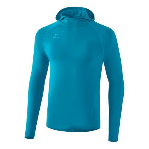 T-shirt manches longues Erima - longsleeve à capuche oriental blue