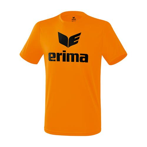 T-shirt promo fonctionnel Erima - enfant orange/noir