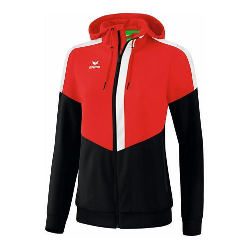 Veste à capuche - Erima tracktop squad femme rouge/noir/blanc