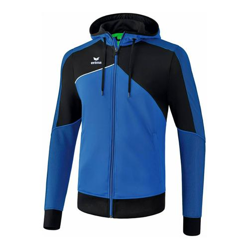 Veste d'entraînement à capuche - Erima - premium one 2.0 enfant new roy/noir/blanc