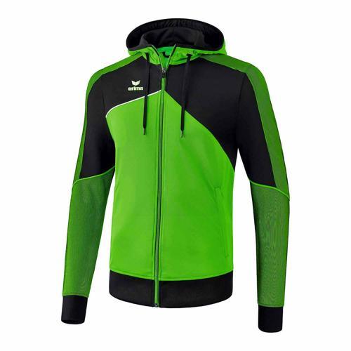 Veste d'entraînement à capuche - Erima - premium one 2.0 green/noir/blanc