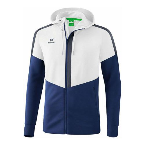 Veste d'entraînement à capuche - Erima - squad enfant blanc/new navy/slate grey