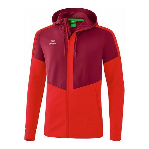 Veste d'entraînement à capuche - Erima - squad enfant bordeaux/rouge