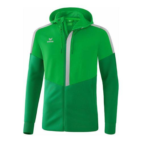 Veste d'entraînement à capuche - Erima - squad enfant fern green/smaragd/silver grey