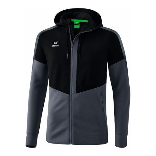 Veste d'entraînement à capuche - Erima - squad noir/slate grey