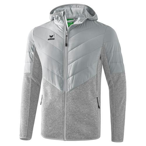 Veste matelassée/tricotée avec capuche - Erima - gris clair