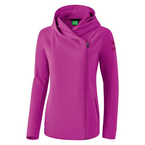 Veste sweat à capuche - Erima - essential femme fuchsia/purple potion