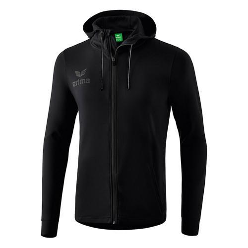 Veste sweat à capuche - Erima - essential noir/gris